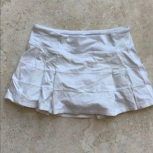 Lululemon white skirt